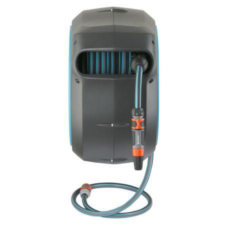 Dévidoir automatique mural RollUp M/L 25m liseret bleu Gardena