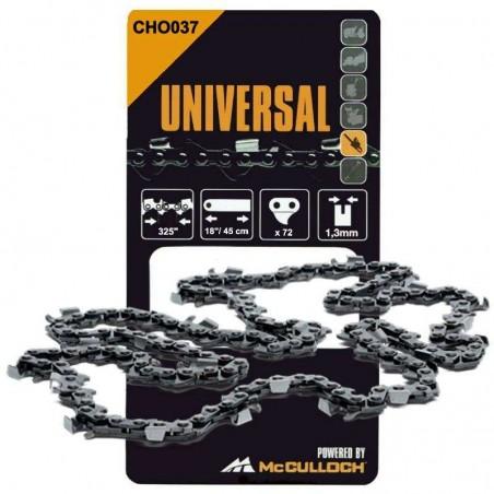 CHO027 - 577615127 - Chaine de tronçonneuse 45cm -72 Entraineurs 0,325 1.3 mm McCULLOCH